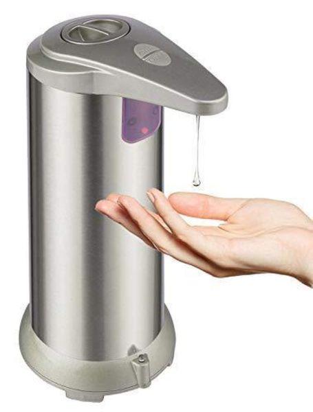 Диспенсер для мыла, автоматическая жидкое блюдо ручной дозатор мыла из нержавеющей стали, бесконтактный датчик движения мыла насос для ванной комнаты