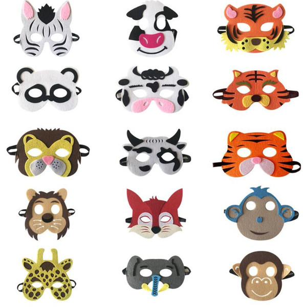 New Halloween Dress Up Mask Fancy Dress Animal Mask Children's Series Halloween Dress Up Polyester Animal Fabric