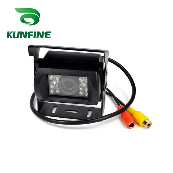 KUNFINE 12V/24V Universal Car Rear View Camera Backup Reversing Parking Rearview Cam Night Vision Waterproof for Truck Bus
