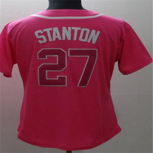 promo code 48936 16a9d 2018 2017 Postseason Patch Pink Mother Aaron Judge Gold Program Memorial  Day Men Women Kids Toddler 27 Stanton Cool Flex Baseball Jerseys From Cn ...