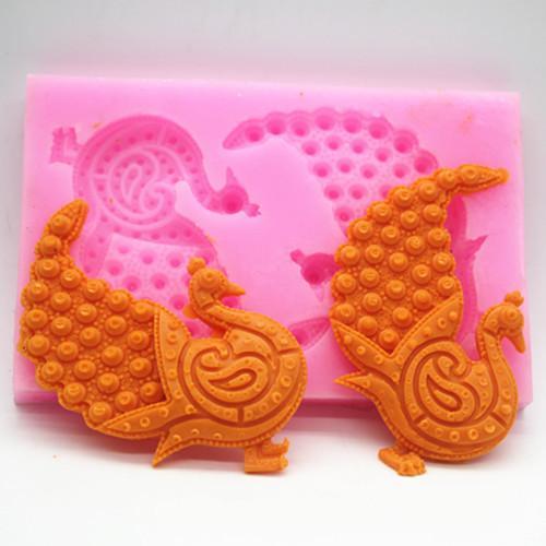 Moule en silicone paon moule en sucre moule en sucre chocolat gâteau dentelle