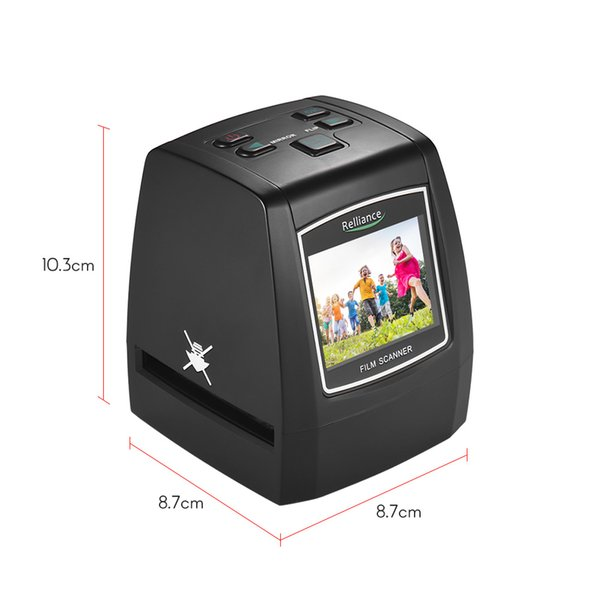 "best selling High-Resolution 14MP 22MP Film Scanner Convert 35mm 135mm 126mm 110mm 8mm Color Monochrome Slide Film Digital Picture 2.4"" LCD"