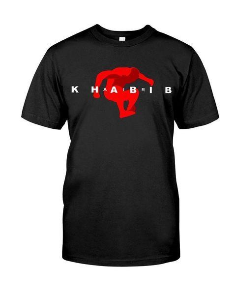 Air Khabib Nurmagomedov Camiseta negra talla S M L 234XL 2018 Nueva camiseta con estampado de camiseta para hombre Camisetas Tops Hip Hop Camiseta corta