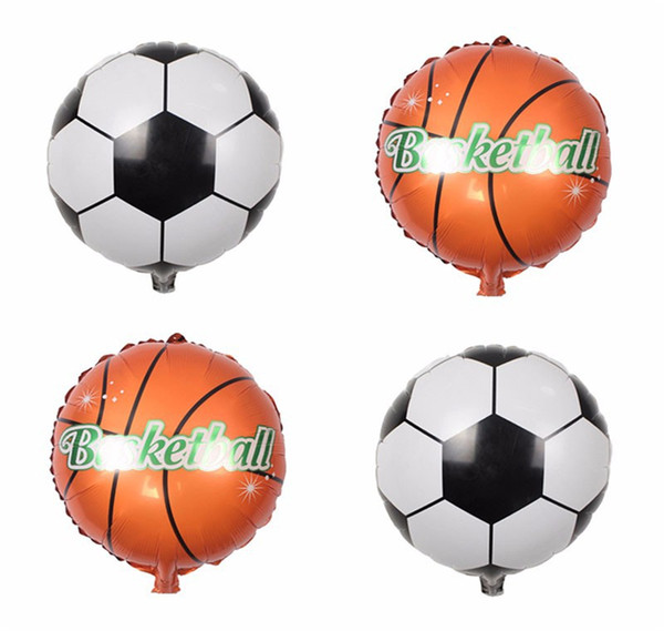 5Pcs Round Foil Football Soccer Balloon Bar Birthday Supply Party Mall Decor Toy