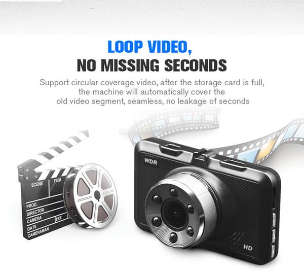 "Full HD car DVRdriving video dashcam vehicle digital data recorder 140° 3"" screen WDR night vision G-sensorlooprecording parking monitor"