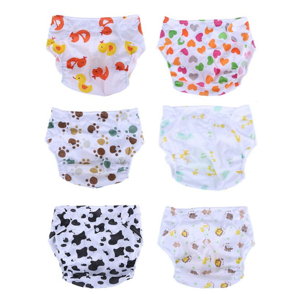 top popular Baby Cartoon Adjustable Diapers Kids Learning Printed Mesh Breathable Cloth Diaper Reusable Baby Nappy Training Pants 2021