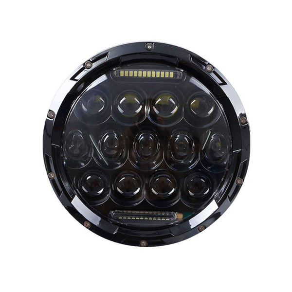7 Inch High/Low Beam H4 LED Halo Headlights 7inch Auto Round Headlamp With Angel Eye DRL For Jeep Wrangler JK TJ CJ Hummer Defender