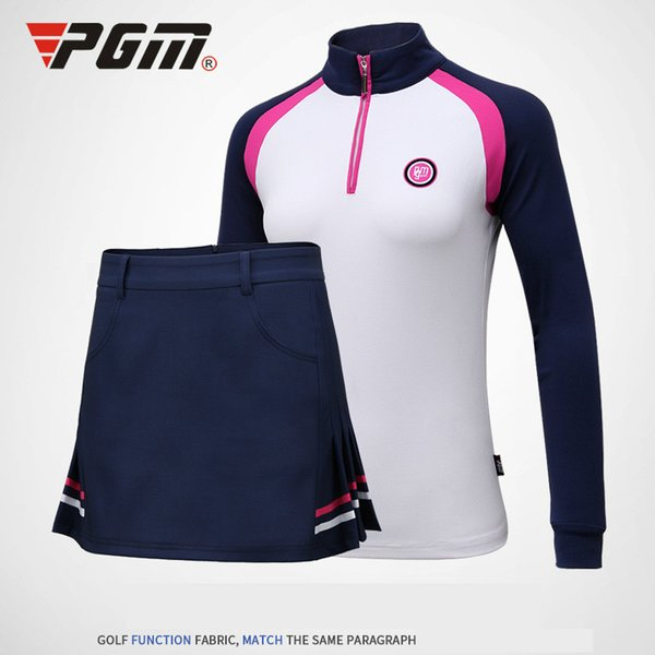 2018 PGM Lady Top Cool T Shirt Summer Breathable Women Long Sleeve Polo Shirt Slim sport clothes for lady size S-XL