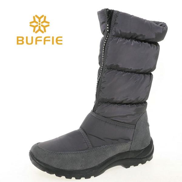 Scarpa alta colore grigio stivali scarpe moda suola in gomma bianco caldo pelliccia fabic superiore solo un paio in taglia 37 campione di vendita