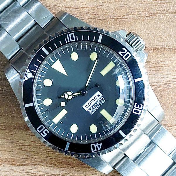 Luxury wri twatch vintage 5514 a ia movement automatic mechanical movement tainle teel fa hion brand men 039 watch wri twatch