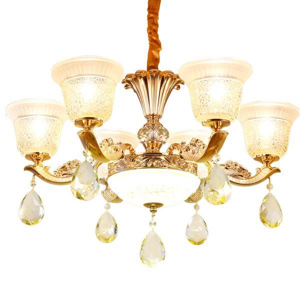 Moderna lámpara de cristal redonda LED Lámpara de techo Home Hotel Designer K9 Crystal Living Room Luxury Chandelier Light para comedor