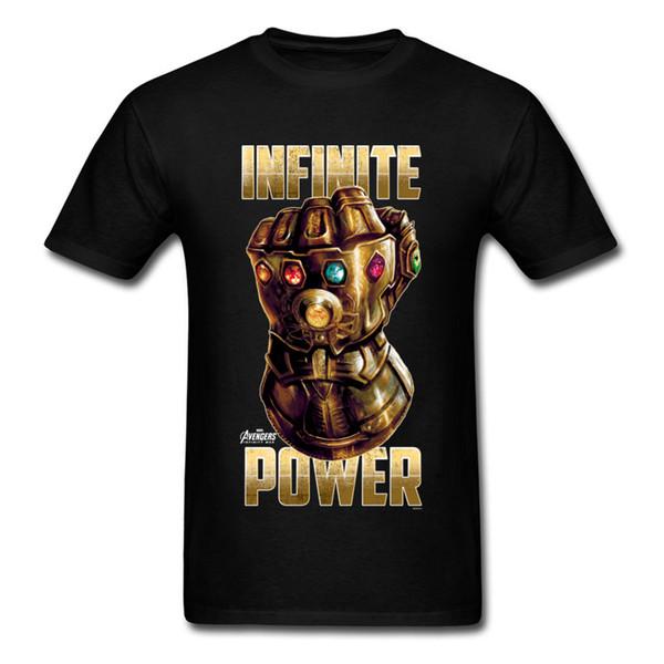 T-shirt de puissance infinie la plus chaude or gant de Thanos t-shirt t-shirt en coton pur t-shirts t-shirts drôle T-shirt 2018 Date Marvel