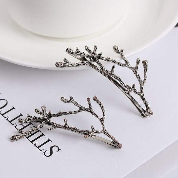 10pcs Fashion Women Girls Metal Branch Leaves Hairpin Barrettes Bobby Hair Clips Pin Styling Tools Accessories Christmas Gift