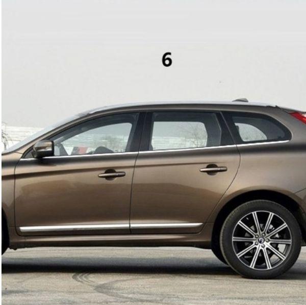 Acessórios do carro guarnição de cromo janela modificada lantejoulas brilhantes molduras peças externas de aço inoxidável PARA Volvo XC60