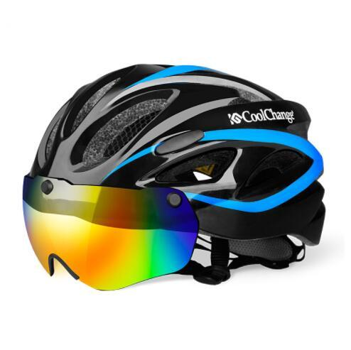 Bicycle Helmet EPS Insect Net Road MTB Bike Windproof Lenses Integrally-molded Helmet Cycling Casco Ciclismo