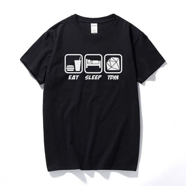Eat Sleep Tdm T-shirt Diamond Cart Dantdm Adventures Mens Gamers Gift Top Cotton Short Sleeve T Shirt Casual Camisa Masculina