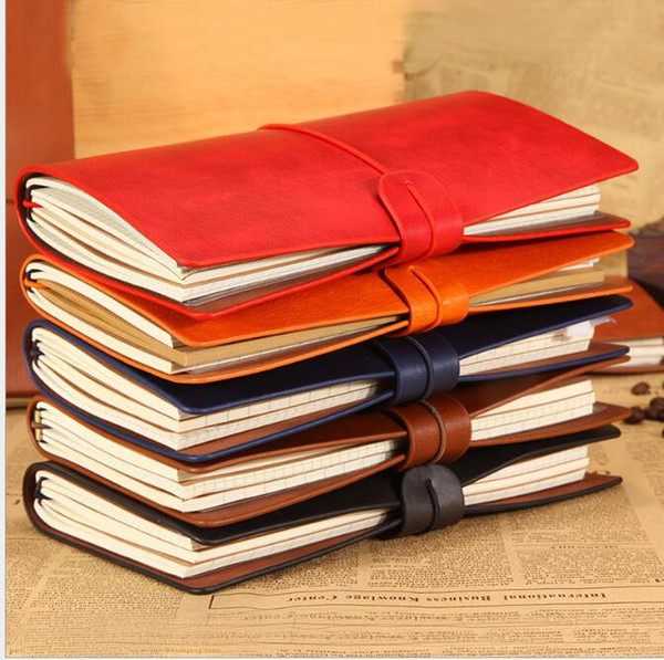 top popular cowhide notebook viungate pu leather notepads portable travel journal Student notebook korean stationery paper Christmas gifts memo pads 2021