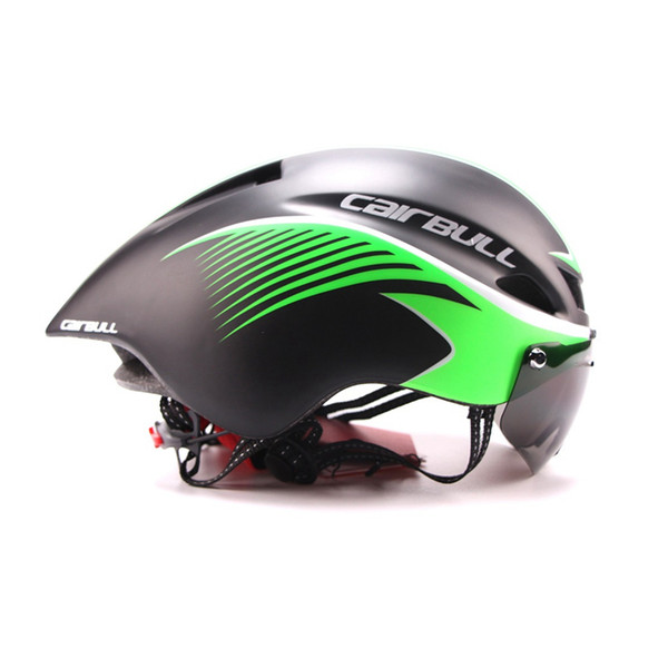 new 290g aero bike helmet with goggles road cycling bicycle sports safety helmet riding mens racing in-mold time-trial