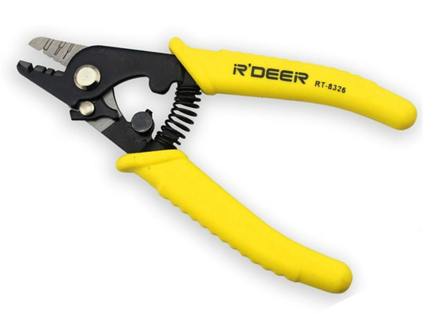 Freeshipping Wire Strippers Wire Cutter Cutting Fiber Optic Strippers Electricians Cable Cutter Multitool Repair Tools