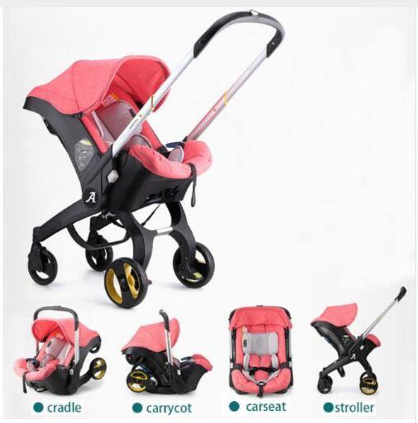 Carrinho de bebê 3 em 1 com Assento de Segurança Do Carro Berço Recém-Nascido Leve Portátil Viajar Folding Bebê Pram Landscope 4 em 1