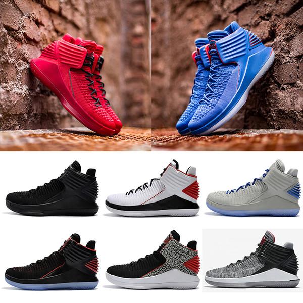 nike air jordan retro shoes 2018 yeni 32 XXXII mens Düşük Basketbol Ayakkabı Örgüleri vamp Kuzey Carolina mavi Siyah Kırmızı Gri Atletizm Indirim Sneaker Boyutu 40-46