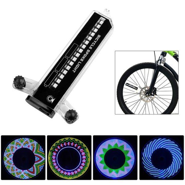 32LED Bike Light Night Waterproof Wheel Signal Lamp Reflective Rim Rainbow Tire Bikes Bicycle Fixed Spoke Warn Light Accessory