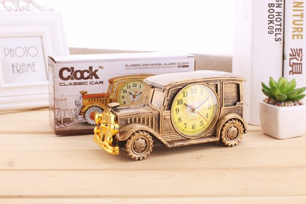 Plastic pointer plastic mirror single side alarm clock alarm