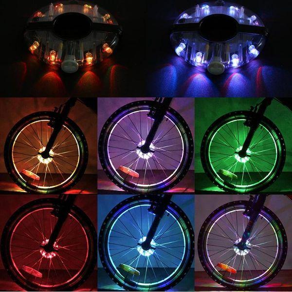 Bicycle Bike Hub Light LED Lights Lamp Cycling Wheel Light Spoke lot Decoration