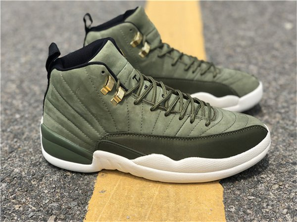 1f856d9a501008 2018 12 Graduation Pack CP3 12S Chris Paul Class XII Men Basketball Shoes  Authentic Green Suede