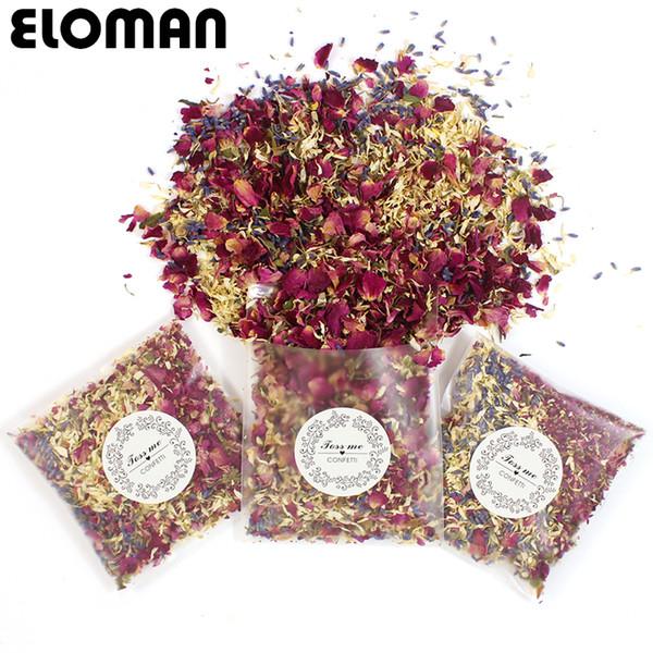 Confetti 100% naturali da sposa petali di fiori secchi ELOMAN pop wedding e decorazioni per feste coriandoli di petali di rosa biodegradabili