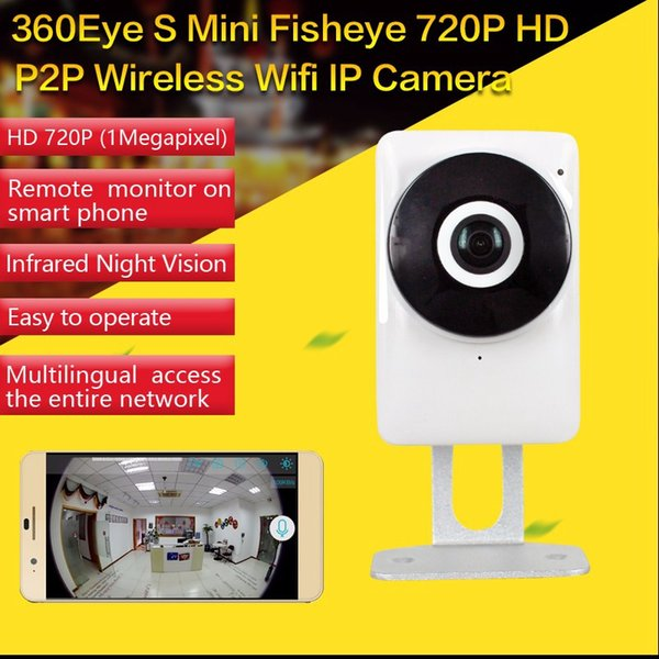 HD 720P Wifi IP Camera Panoramic 180 Degree View Night Vision Mini Baby Monitor 1.0MP CCTV Camera Wireless Home Security DVR EC1-G6