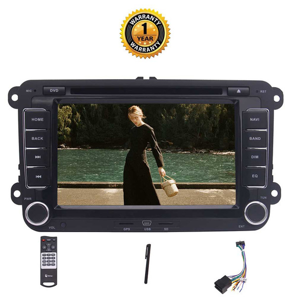 Eincar Autoradio For Volkswagen Double din GPS Car dvd Stereo Android 7.1 Bluetooth Car GPS Navigation USB/SD/FM/RDS Radio Receiver