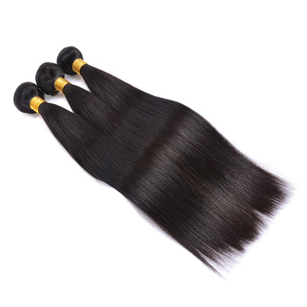 Yibeilu Brazilian Straight Virgin Human Hair Brazilian Straight Human Hair Weft Unprocessed Remy Straight Hair Weave Bundles