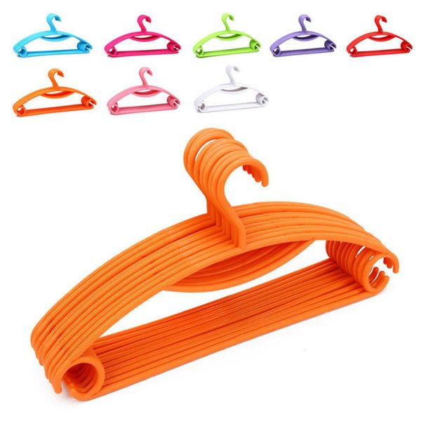 "Rainbow Plastic Non-slip Casual Plastic Hanger / Dry Wet Clothes Hangers 40.5CM (15.95 "") Wide 8 Color Select"