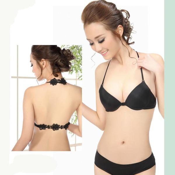 Backless sexy sutiã conjunto fechamento frontal sutiã de renda elegante de luxo mulheres e amor jovem empurrar para cima lingerie secrte sutia C3404