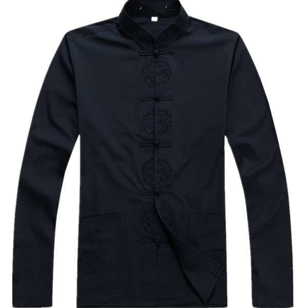 New Arrival Chinese Traditional Men's Cotton Mandarin Collar Linen Tang Suit Clothing Kung Fu Jacket Coat Plus Size S - 3XL