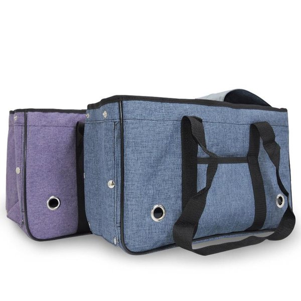 New Soft Sided Pet Carriers Outdoor Travel Dog Carrier Bag for Small Dogs&Cats Breathable Mesh Fodable Dog Purse Bag with Pocket