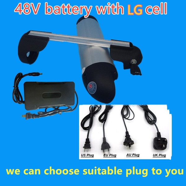 48v 1000w electric bike battery 48v 20ah bottle lithium battery with lg battery and 30a bm 54 6v 2a charge