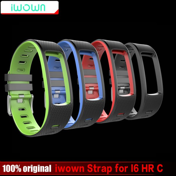 Original iwown Strap Silicone Replacement Wristbands Accessories for IWOWN IWOWNfit I6 HR C Bracelet