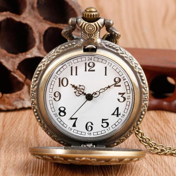 Chegada nova Retro Alice No País Das Maravilhas Tema de Bronze De Quartzo Relógios De Bolso Do Vintage Relógios de Presente de Natal Brithday