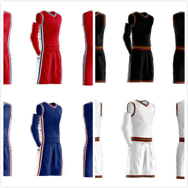 top popular Wholesale basketball clothes suit cheap Customize text and pattern in your clothes,please contact us for printing size: S-4XL free shipping 2020
