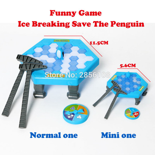 Ice Breaking Save The Penguin Great Family Fun Game Knock Ice Block Wall educational toys,Normal Or Mini 2 Styles for choose
