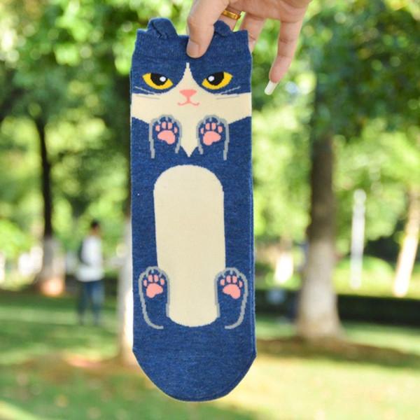 Verão Animal Engraçado Padrão Coreano Moda 2018 FLY Dog Meias Mulheres Sox Estilo Meias Bonito harajuku 3D Algodão Dos Desenhos Animados LOUCO