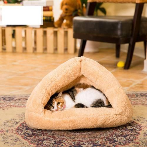 2 Colors Warm Puppy Beds Cat Dog Bed Soft Pet Kitty House Sofa Sleeping Bag