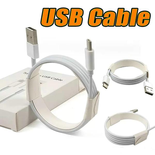 Chargeur Micro USB Câble Type C Haute Qualité 1M 3Ft 2M Câble Sync de données 6FT pour Samsung S9 S8 S7 Note 8 Charge à grande vitesse avec boîte de vente au détail