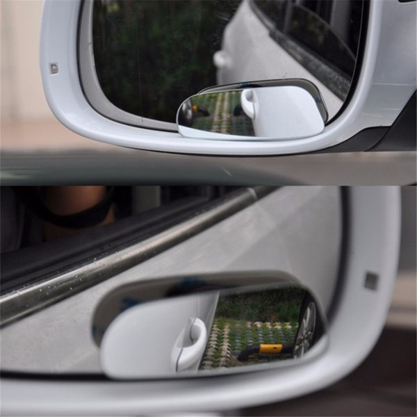 Car Styling Blind Spot Mirror Auto Rear View Mirror Safety Blind Spot Mirror 360 Degree Adjustable Wide Angle View 2Pcs/Set