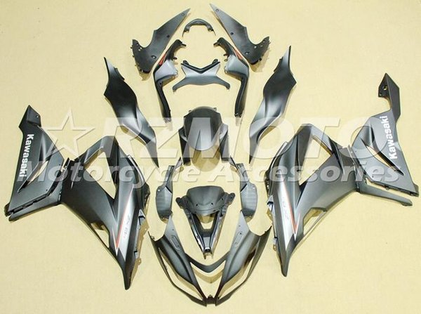 Nuovo Kit moto carenature ABS per KAWASAKI Ninja ZX6R 636 2013 2014 2015 2016 2017 599 13 14 15 16 17 6R Carrozzeria nero opaco