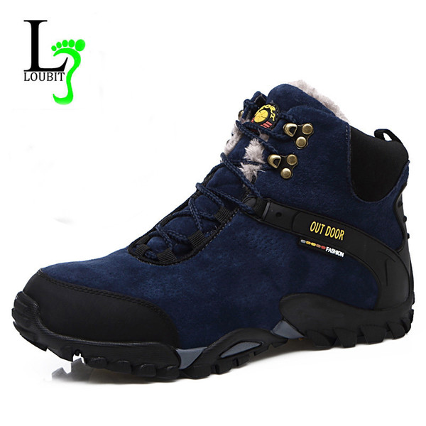 2019 new Fashion Men Snow Boots With Fur Winter Rubber Ankle Boots Lace Up Men Footwear Warm Work Shoes Comfortable Boots 38-46 Sneakers