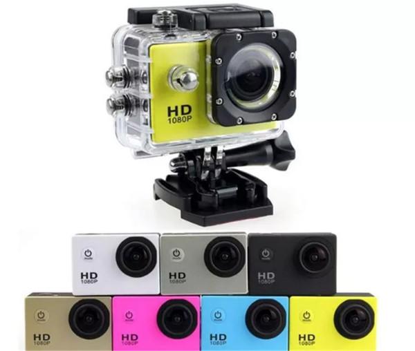 top popular SJ4000 1080P Full HD Action Digital Sport Camera 2 Inch Screen Under Waterproof 30M DV Recording Mini Sking Bicycle Photo Video new item 2021