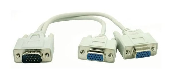 PC to 2 Way VGA SVGA Monitor LCD TFT Y Splitter Cable1 PC to 2 Way VGA SVGA Monitor LCD TFT Y Splitter Cable0.25m